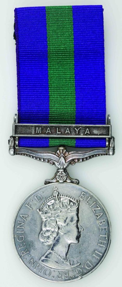 Malaya Queen Elizabeth II General Service Medal(Silver)