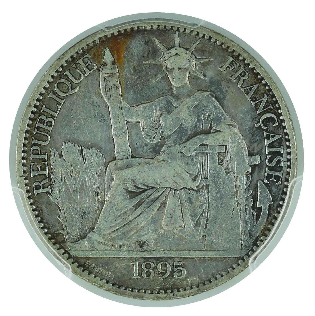 French Indo China, 1895-A, Silver 50 Cents
