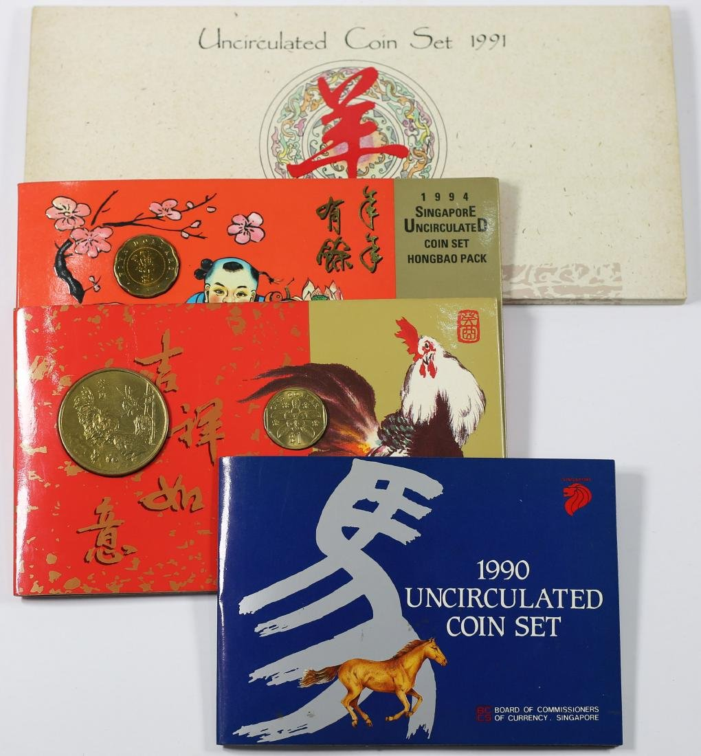 Singapore Lunar Series UNC Coin Sets and Roster Set