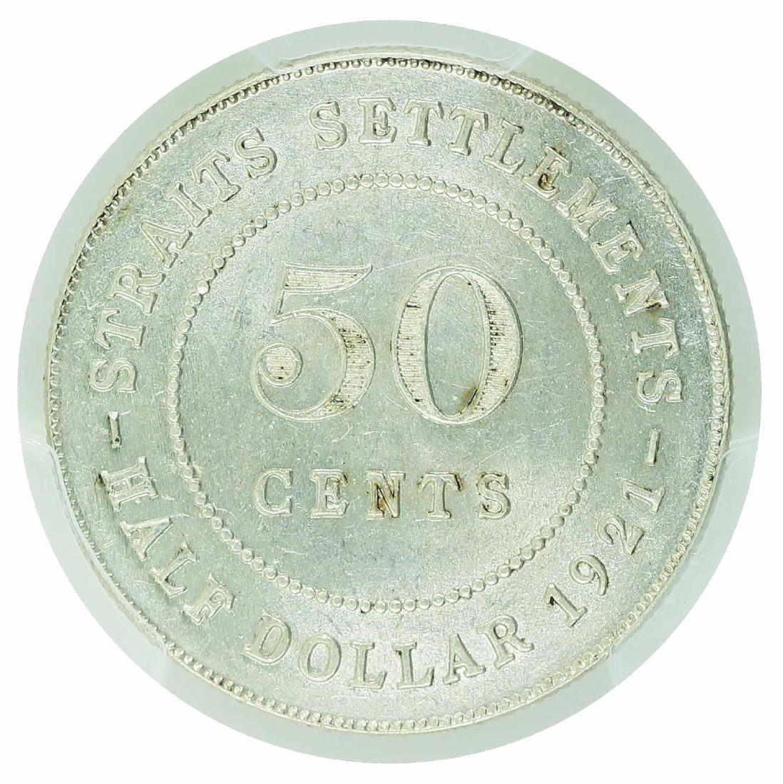 Straits Settlement 1921  50 Cents - 2
