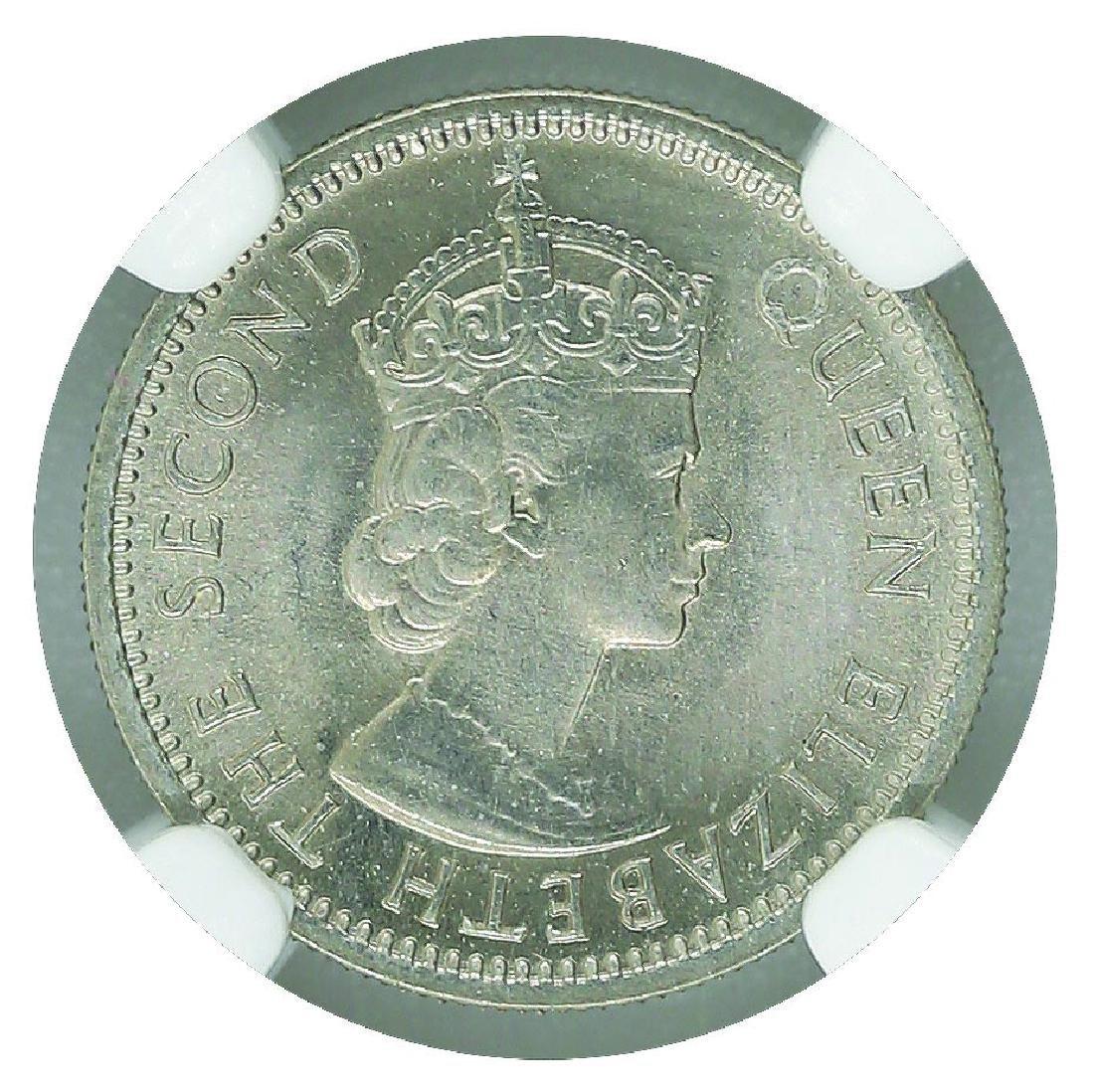 Malaya British Borneo 1961KN  5 Cents NGC MS 65