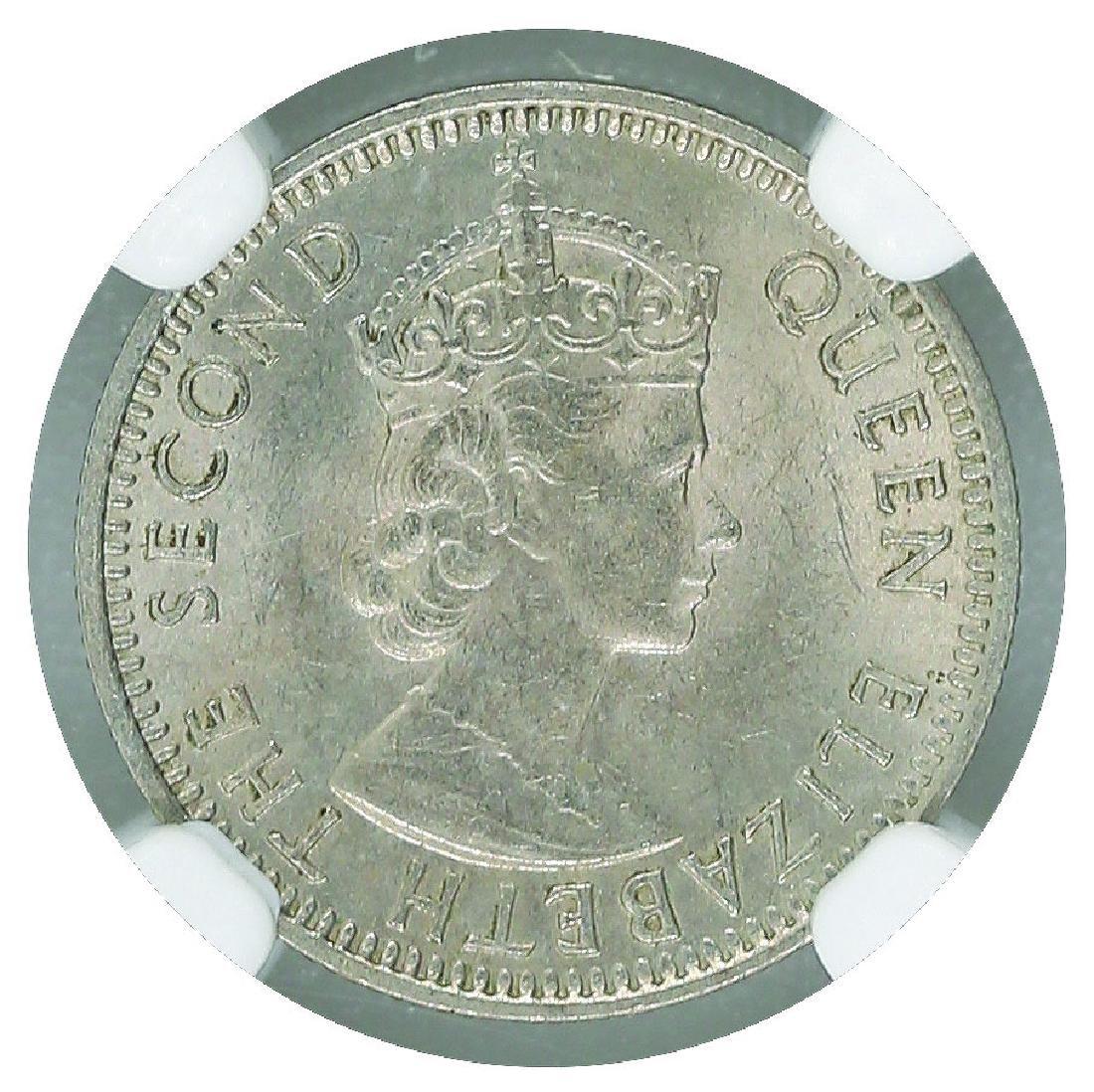 Malaya British Borneo 1957H 5 Cents NGC MS 64