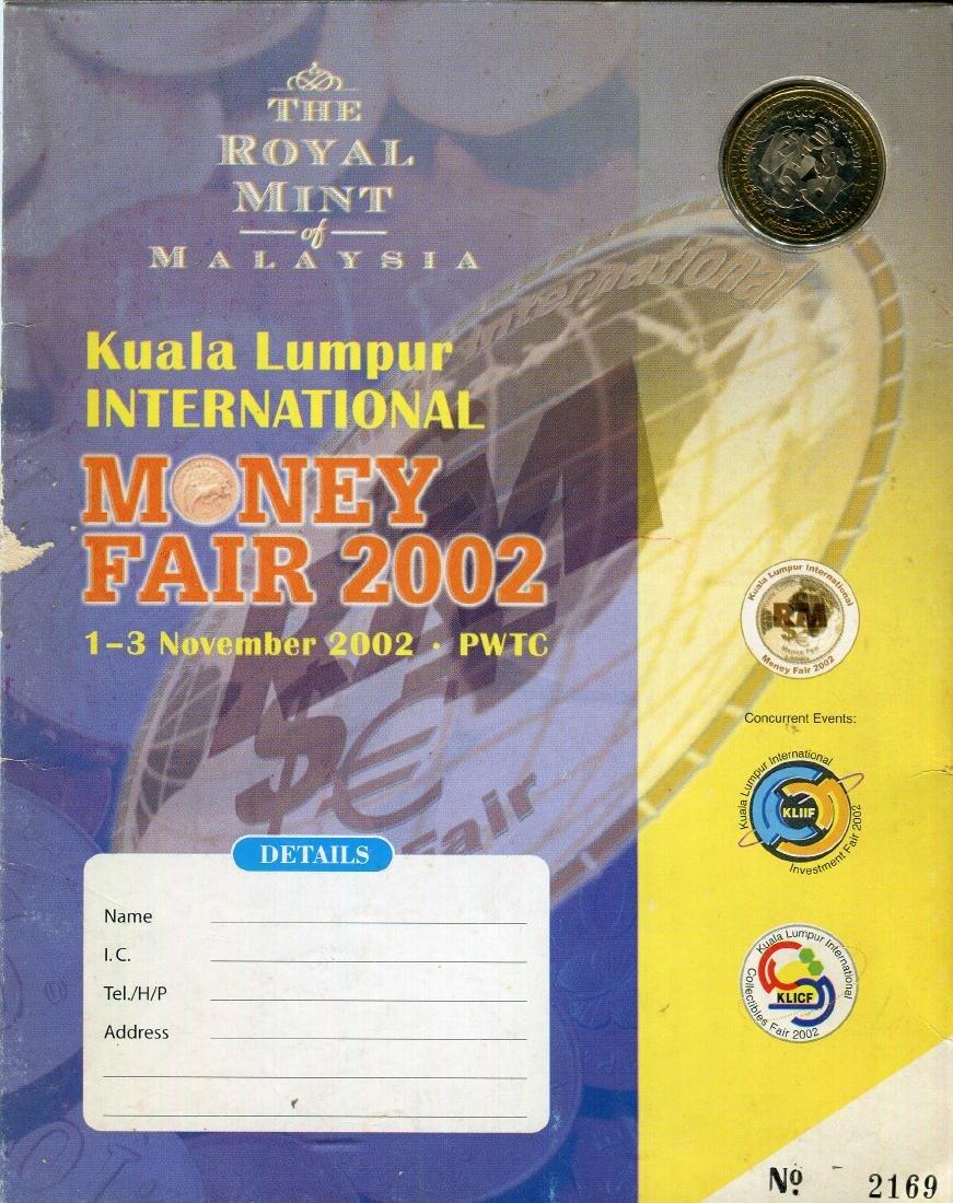 2002 Kuala Lumpur Money Fair Medallion with folder
