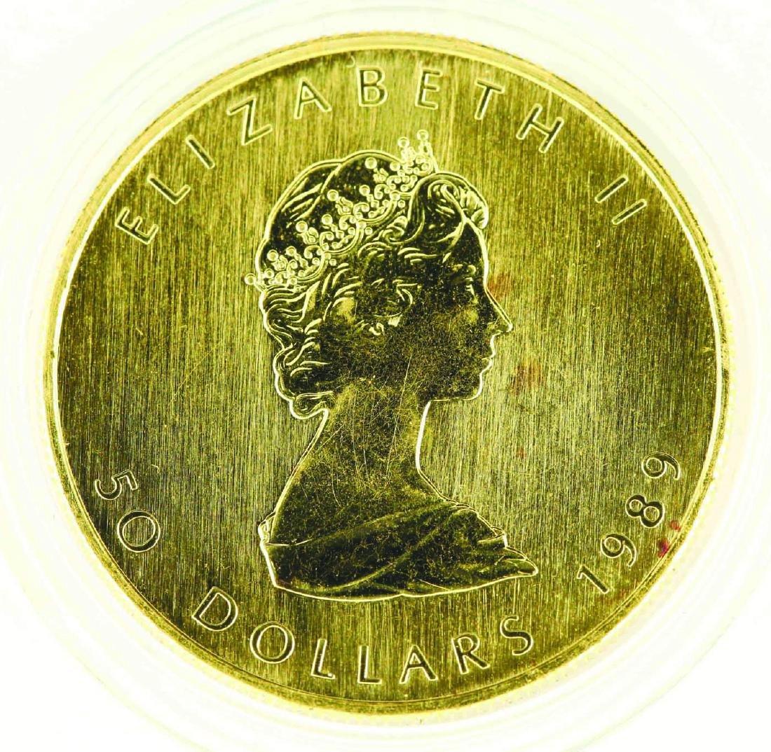 1989 Canadian Gold Maple Leaf 1oz .9999