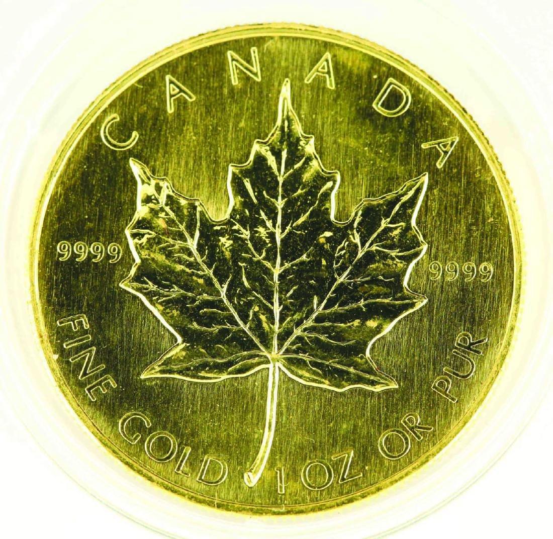 1989 Canadian Gold Maple Leaf 1oz .9999 - 2