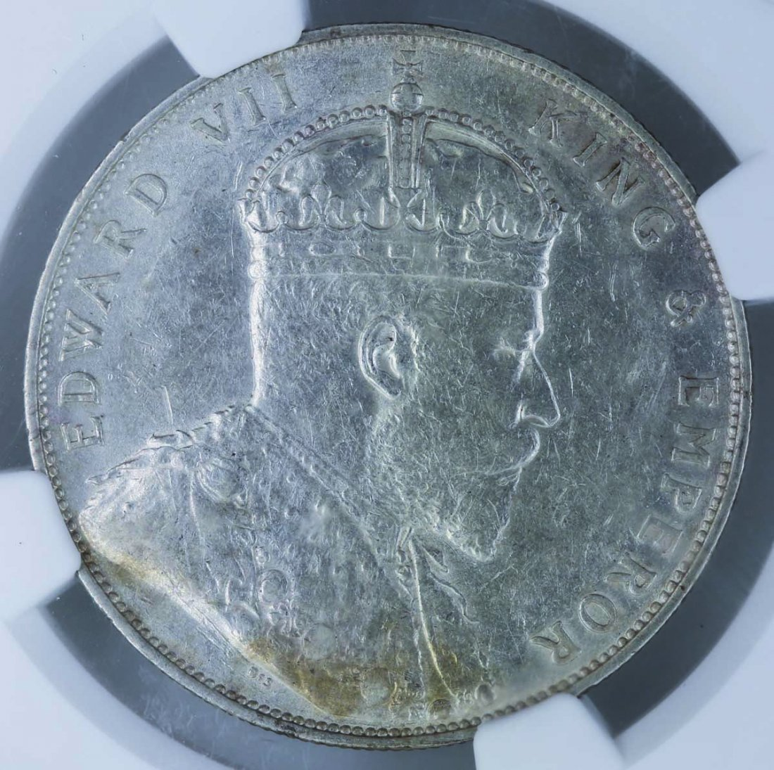 1907 Straits Settlements 1 Dollar NGC AU 58