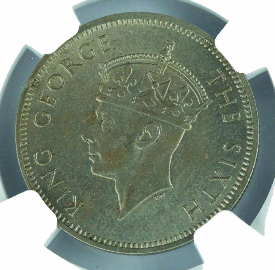 1948 Malaya 20 Cents, NGC MS 63