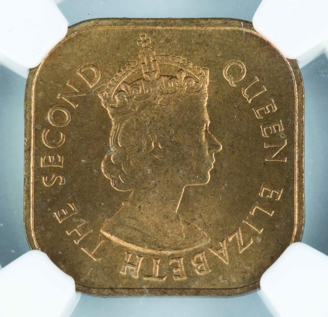 1956 Malaya British Borneo 1 Cent, NGC MS64RD