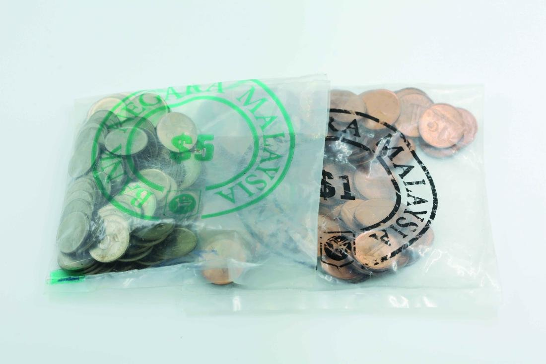 Malaysia 1988 1 Cent UNC (100pcs) & 1982 5 Cents (100
