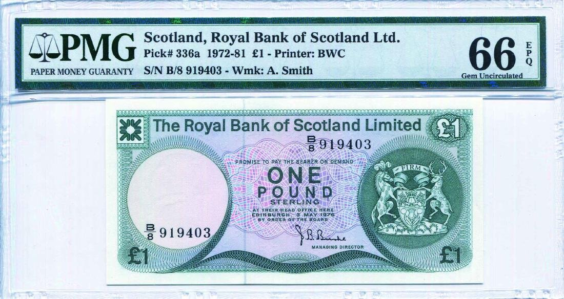Scotland, The Royal Bank of Scotland, 1972 - 81 1 Pound