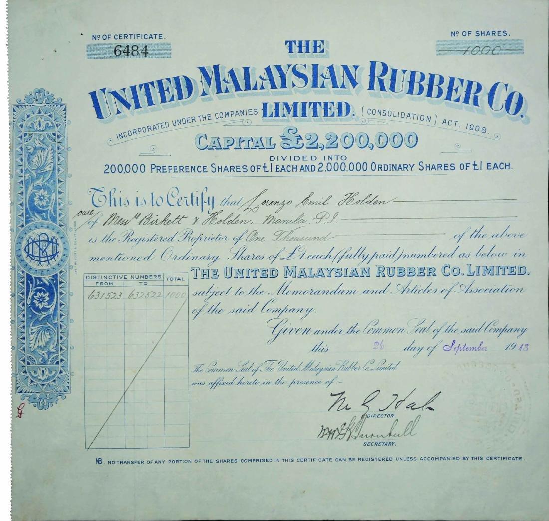 United malaysian rubber co ltd share certificate ltd share certificate 1betcityfo Gallery