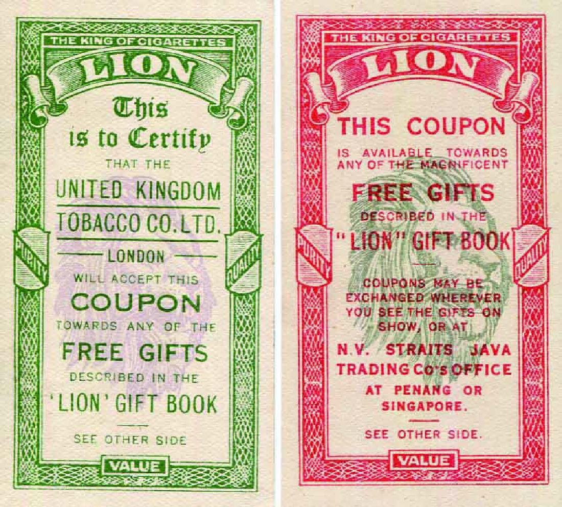 1929 United Kingdom Tobacco Co. Ltd. Coupon AU (2pcs)