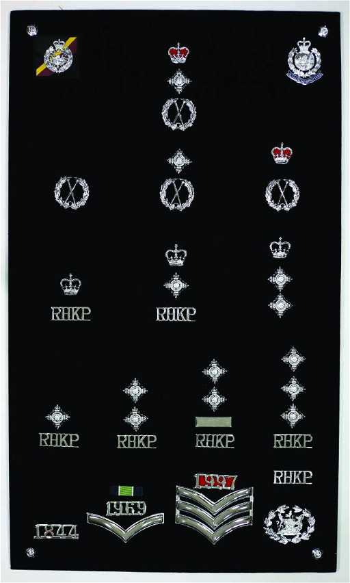 Pre 1997 Hong Kong Police Force Rank Insignias