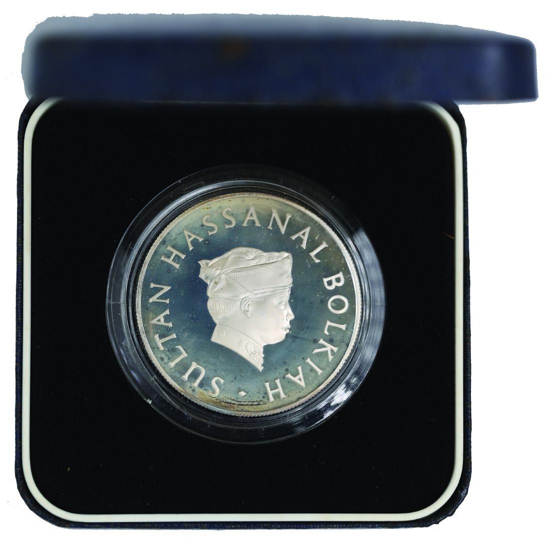 Brunei 1977, $10 Proof 10th Anniversary of the Brunei