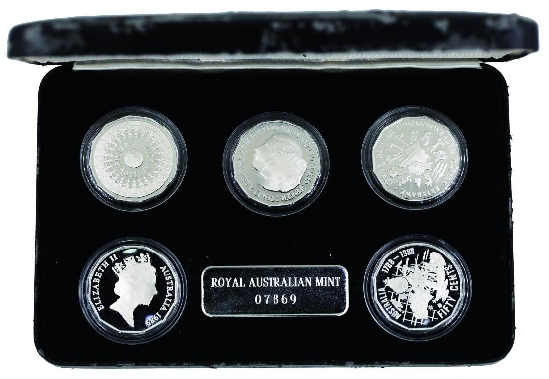 Royal Australia Mint 1989, 50 Cents Commemora ve coins,