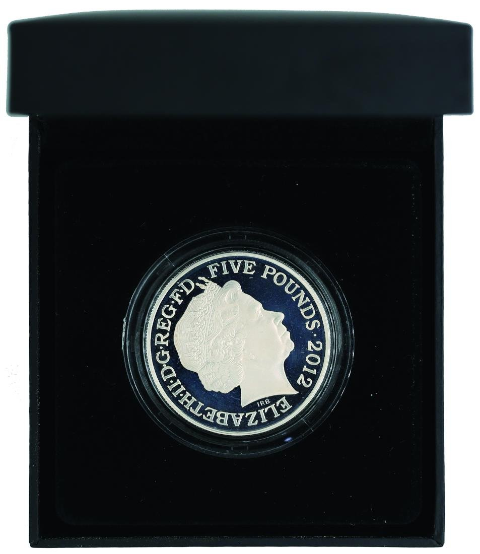 London 2012, Olympic 5 Pound Silver Proof Piedfort Coin