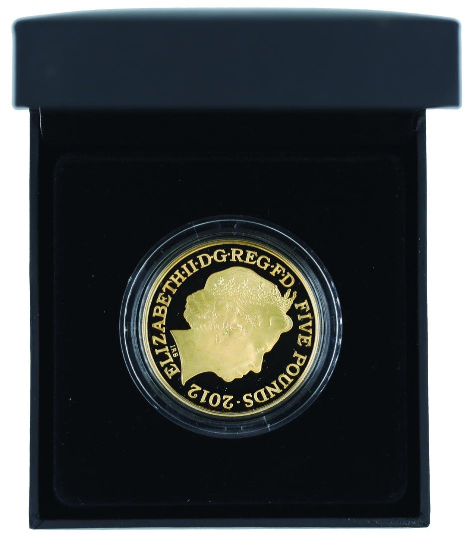 London 2012, Olympic 5 Pound Silver with Gold Plated