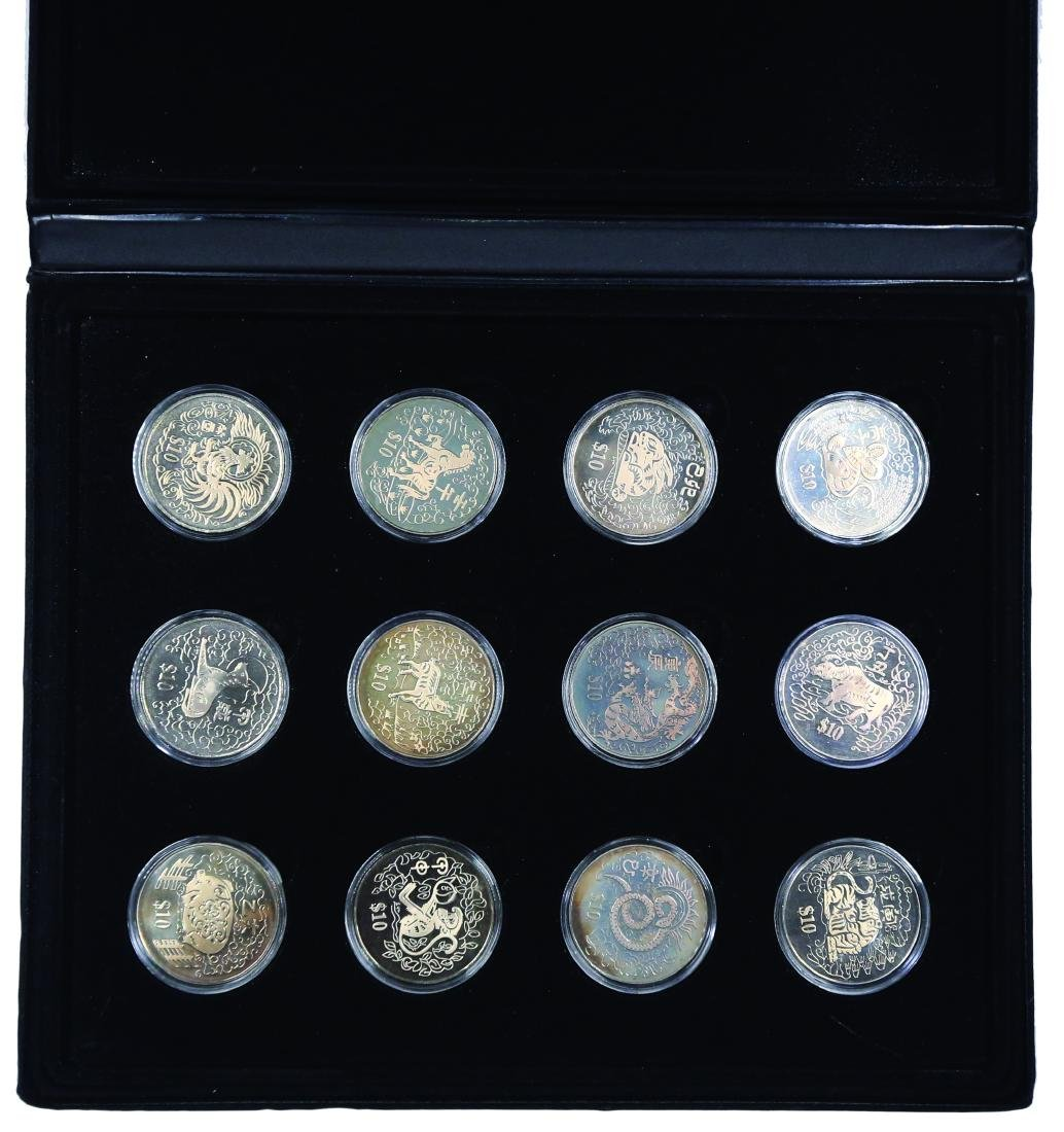 Singapore 1993 - 2004, $10 Copper - Nickel Proof like