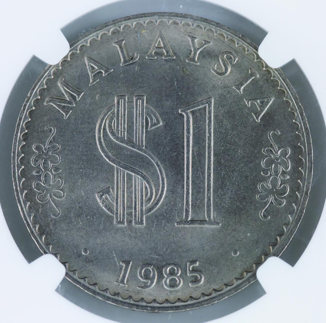 Malaysia 1985, RM1 NGC MS 65 - 2