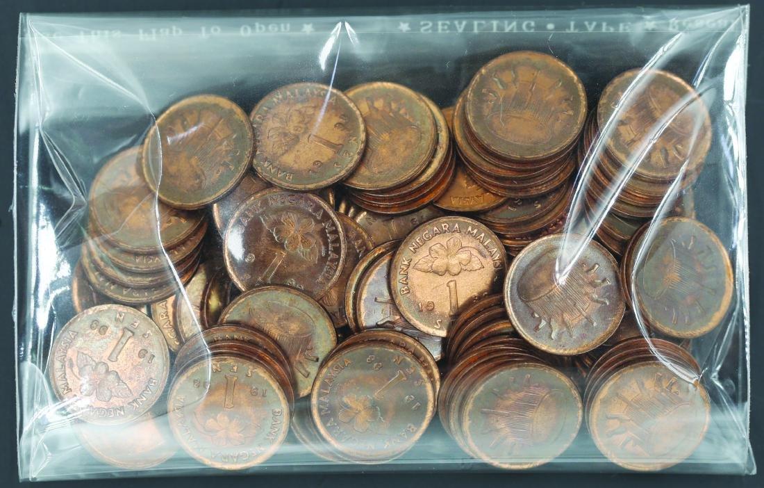 Malaysia 1998, 1 Cent AU - UNC (100pcs) toned and