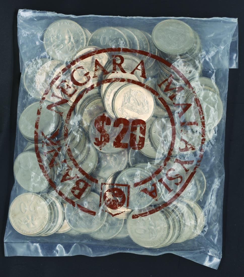 Malaysia 1990, 20 Cents UNC (100pcs)