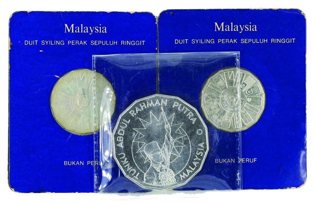 1976, 3rd Malaysia Plan RM10 (.925 Silver) BU KN8b)-