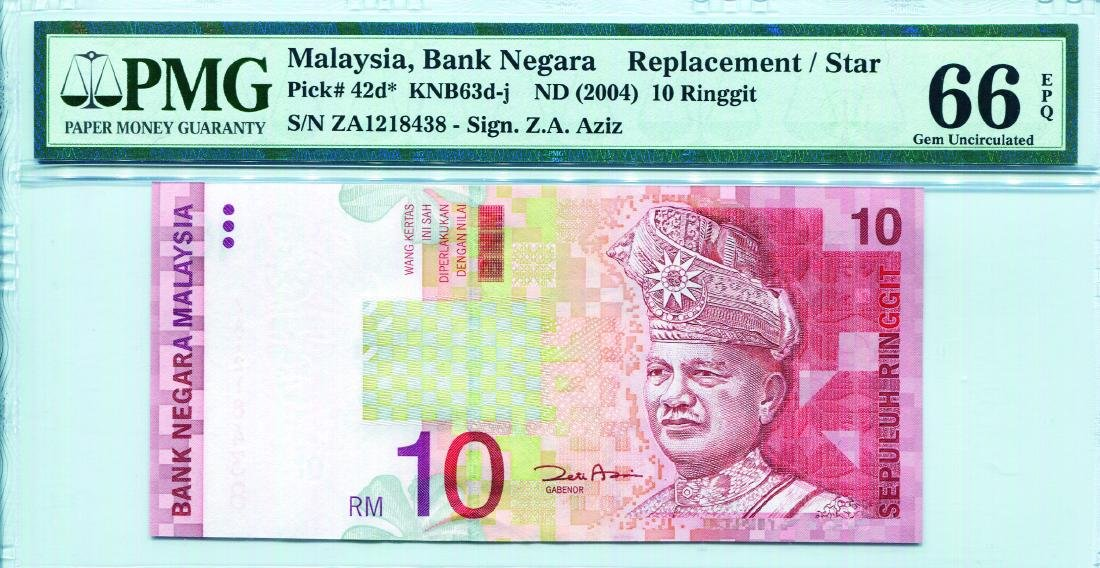 10 Ringgit 11th Series Sign. Zeti Aziz (KNB63d:P42d)