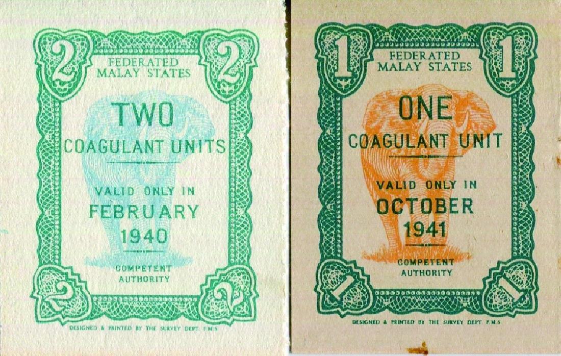 Federated Malay States April/May, May 1940, 2 Coagulant - 2