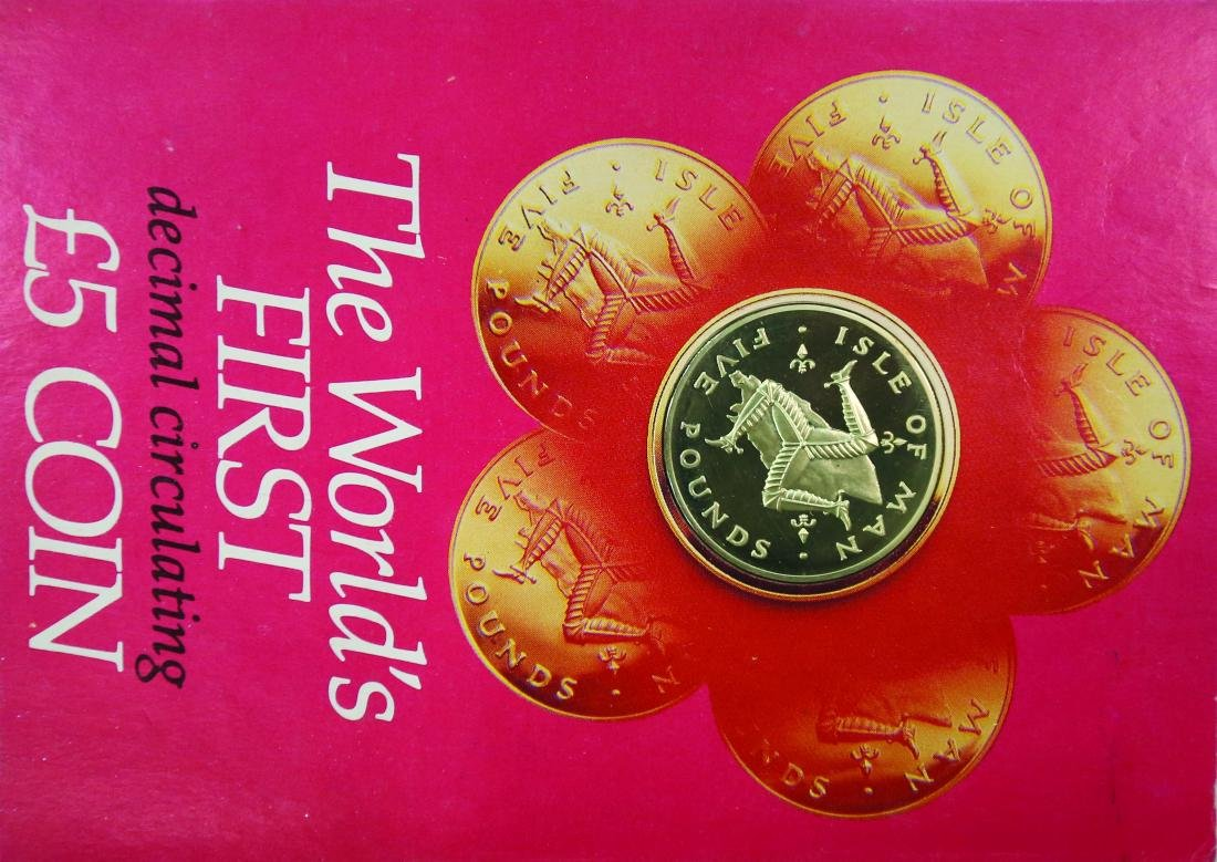 Isle of Man 1981, 5 Pounds (The world first decimal