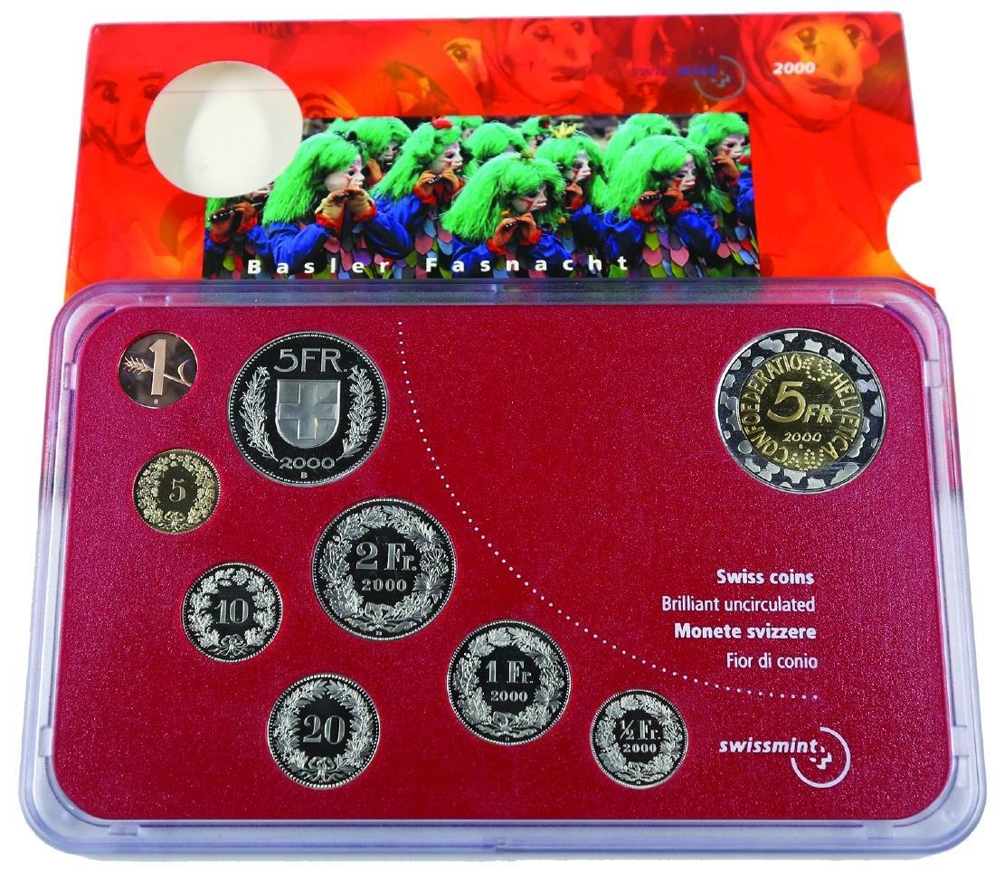 Swiss 2000, BU Coins set of 9 - 1,5,10,20 ct,