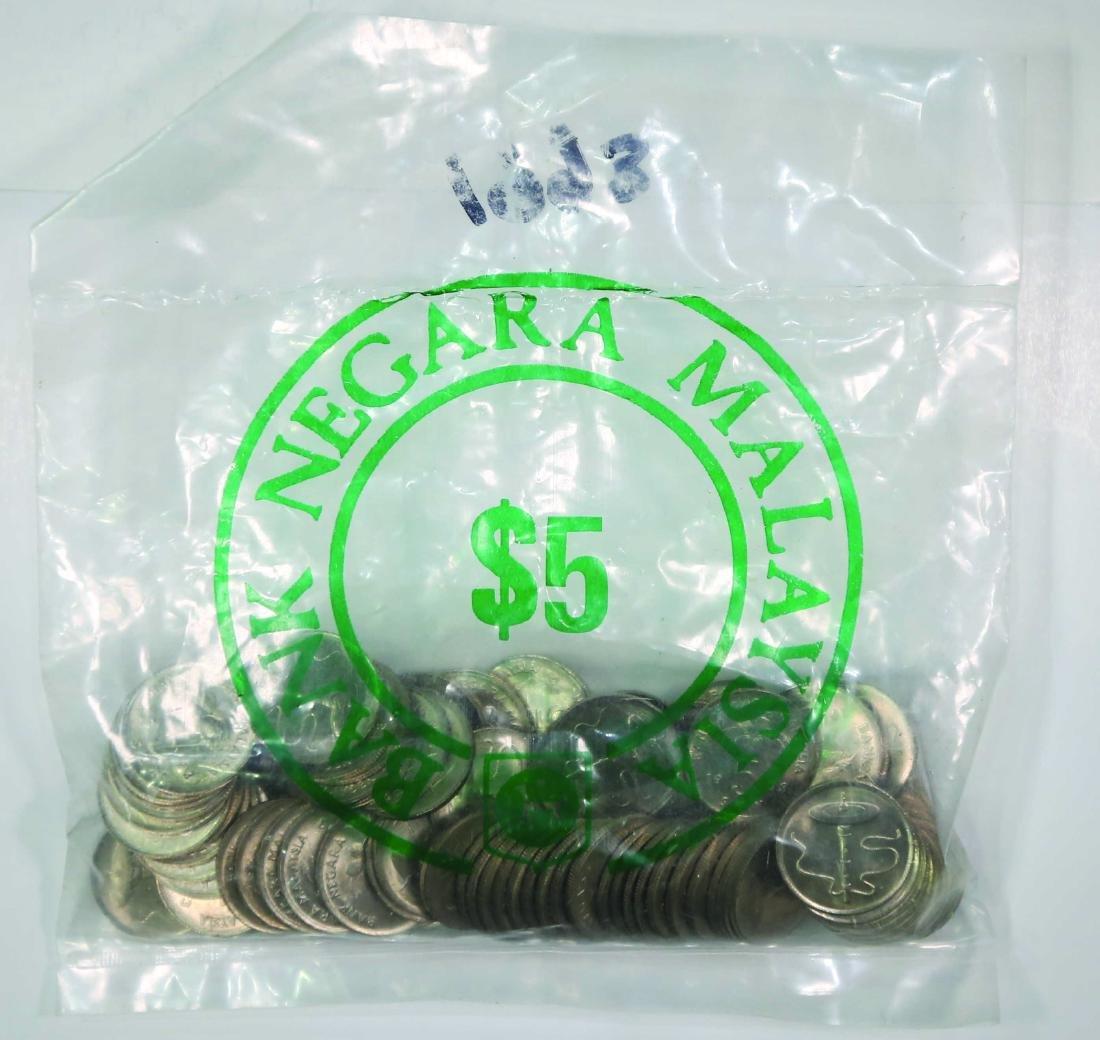 Malaysia 1993, 5 Cents (100pcs) UNC
