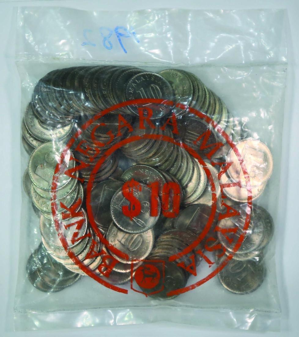 Malaysia 1982, 10 Cents (100pcs) UNC