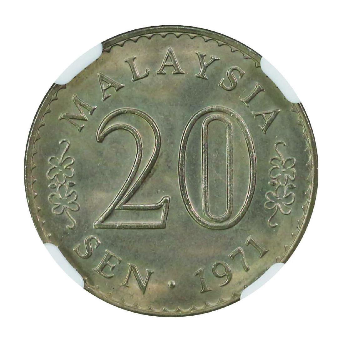 Malaysia 1971, 20 Sens NGC MS65 - 2