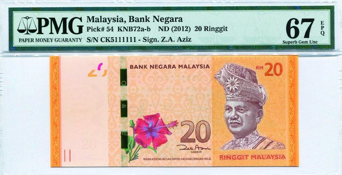 20 Ringgit 12th Series. Zeti Aziz (KNB72b:P54) S/no. CK
