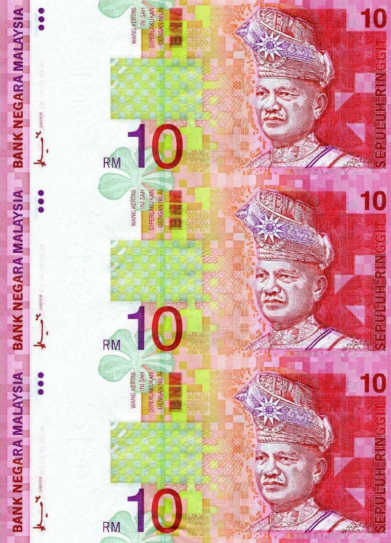10 Ringgit 8th Series Ahmad Don (KNB10) Uncut Sheet of