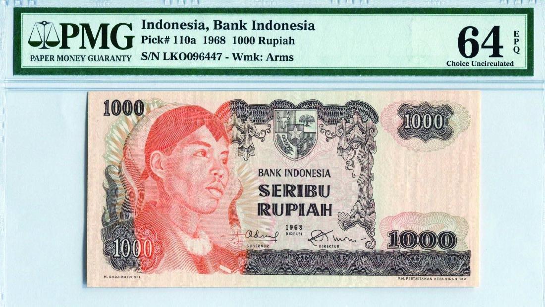 Indonesia 1968, 1-1000 Rupiah (P) PMG 64/65/66 EPQ - 3