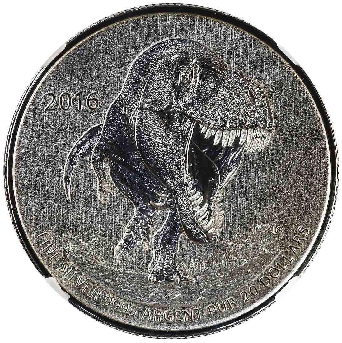 Canada 2016, T-Rex. $20. NGC SP 70