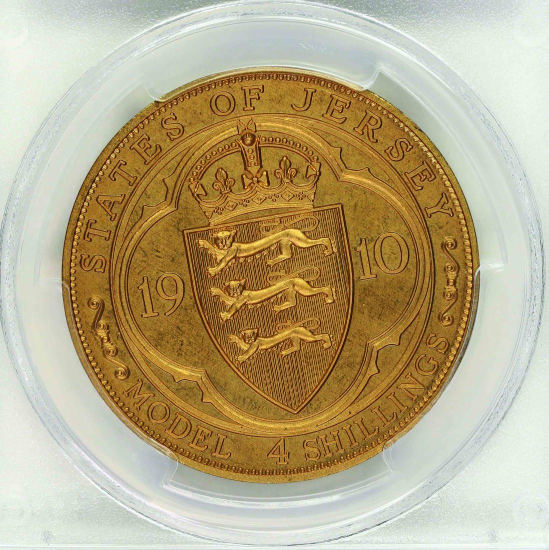 Jersey 1910 4 Shillings Proof, PCGS PR66