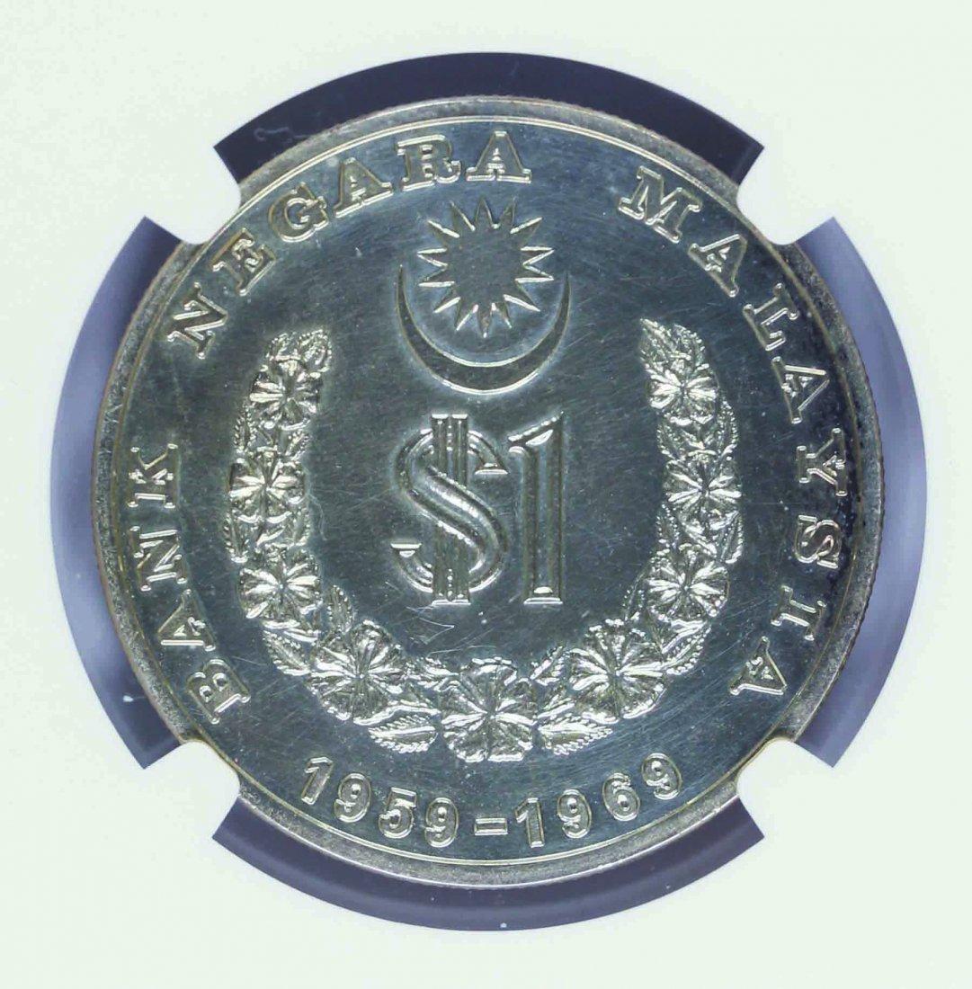Malaysia 1969 1 Ringgit Proof Bank Negara Annivesary - 2