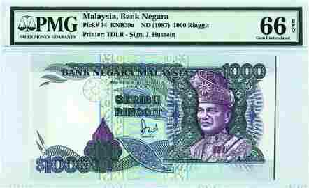 1000 Ringgit 6th Series Jaffar Hussein