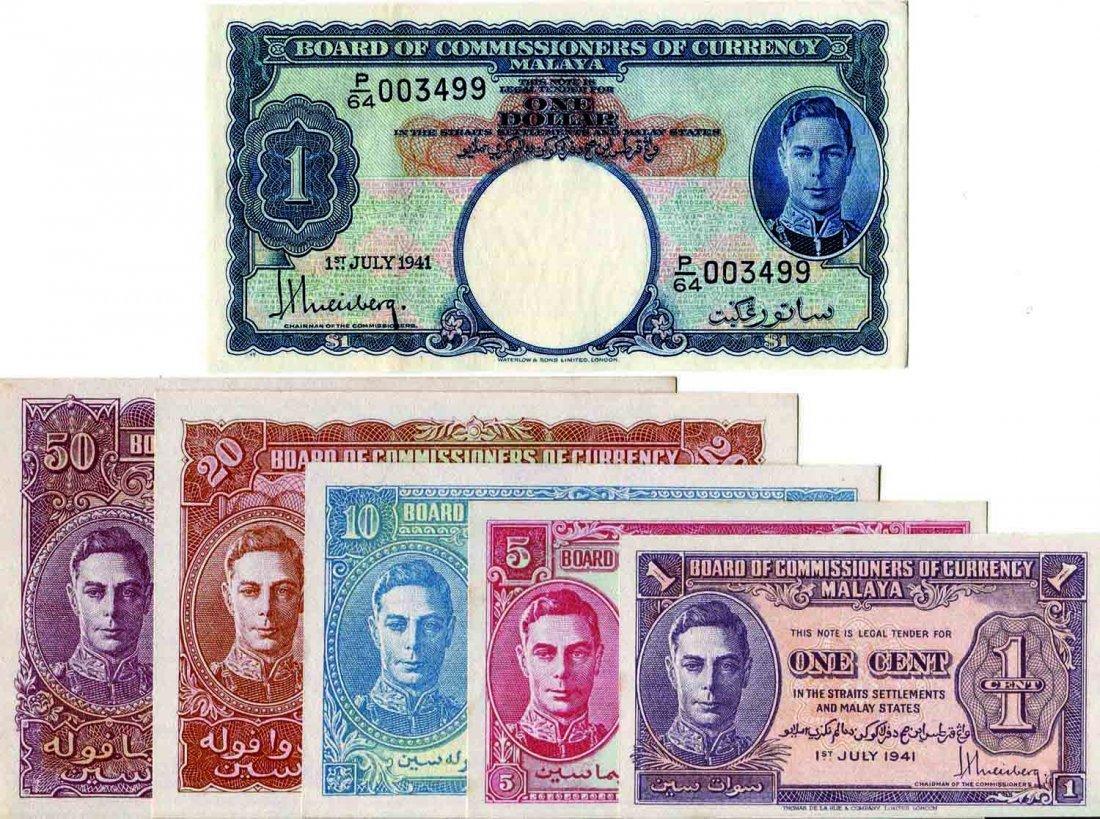 Malaya 1941.1, 5,10, 20,50 Cents & $1