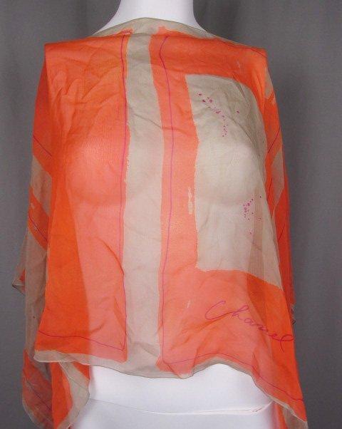 Chanel Silk Chiffon Capelet Cropped Jacket Bolero