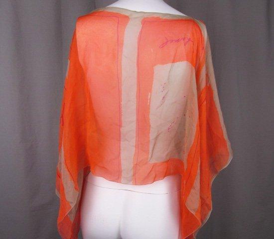 Chanel Silk Chiffon Capelet Cropped Jacket Bolero - 2