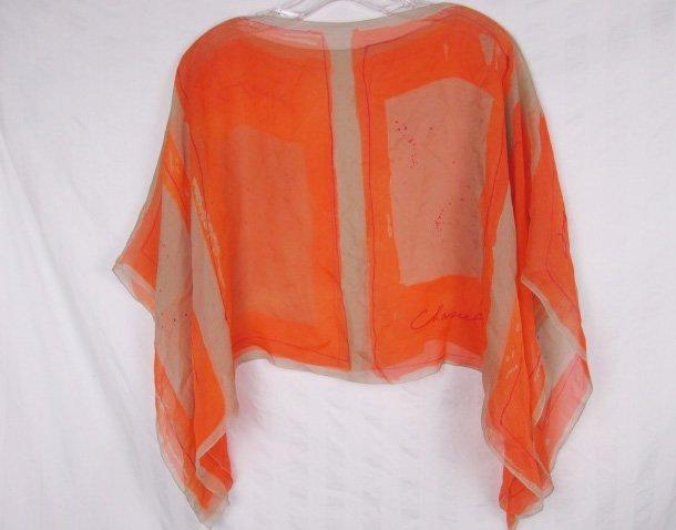 Chanel Silk Chiffon Capelet Cropped Jacket Bolero - 5