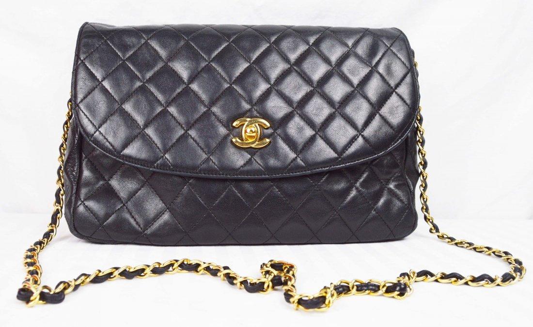 Vintage Chanel Large Crossbody Flap Bag 2.55