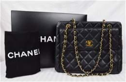 Chanel Medium Size Business Tote Caviar Leather Handbag