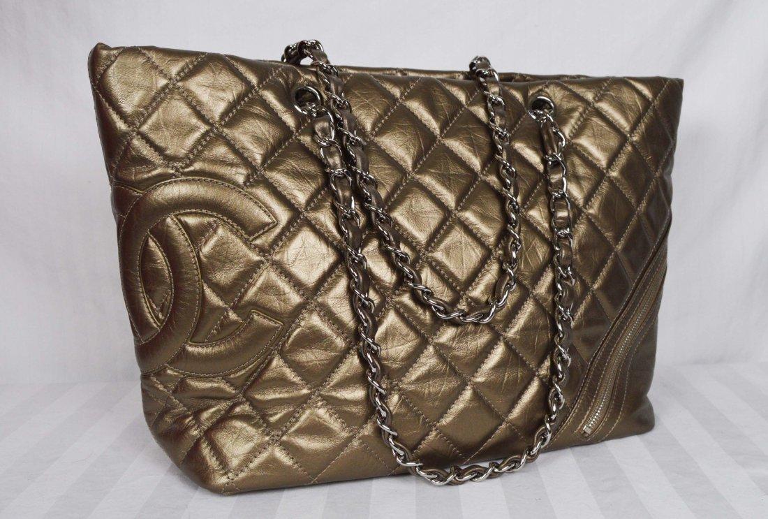 Authentic Chanel Cotton Club Bronze Tote