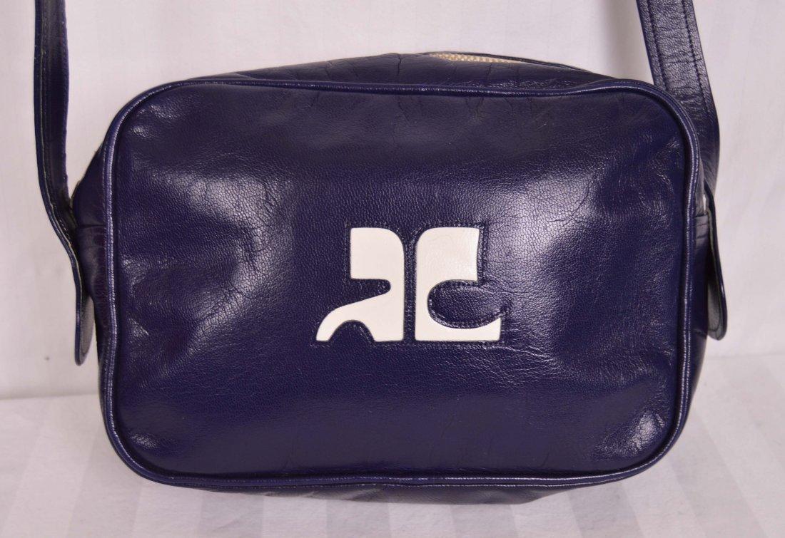 Navy Blue Vintage Courreges Bag