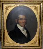 Late 18th C. Stroke Oil on Board Portrait of a
