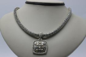 John Hardy 18Kt YG & Sterling Silver Necklace &
